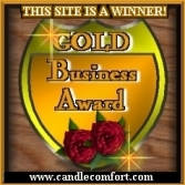 Gerlindes Candle Creations Gold Business Award
